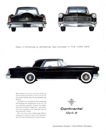1956 lincoln continental mark ii milestones. Black Bedroom Furniture Sets. Home Design Ideas