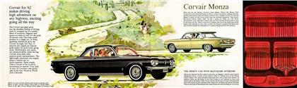 Chevrolet Corvair, 1962 - Monza Club Coupe, Monza 4-Door Sedan