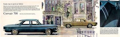 Chevrolet Corvair, 1962 - 700 4-Door Sedan, 700 Club Coupe