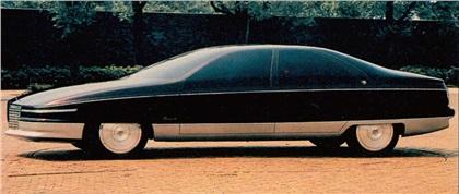 Cadillac Voyage, 1988 - Clay model. Automotive News, January 1988.