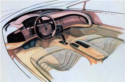 Cadillac Voyage, 1988 - Interior Design Sketch