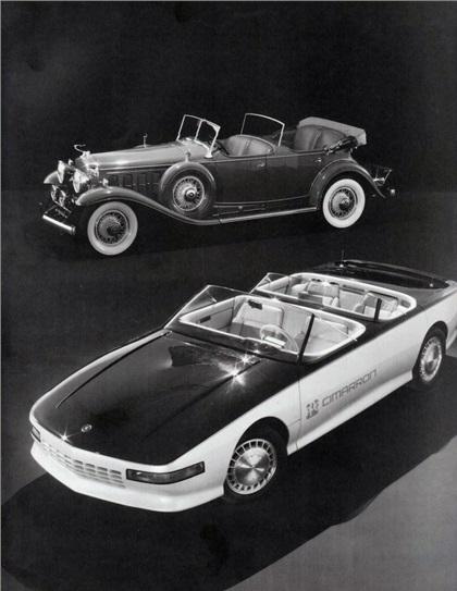 1985 Cadillac Cimarron Concept & 1931 Cadillac Fleetwood Dual Cowl Touring