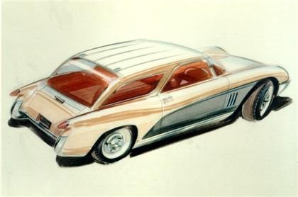 Chevrolet Nomad Motorama Showcar, 1954 - Design Sketch