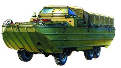 Большой автомобиль-амфибия ЗиС-485 (БAB)