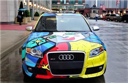 Audi RS4 Art Car by Romero Britto (2007): Искусство на продажу