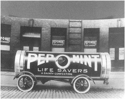 Pep-O-Mint Life Savers Car (1918): Дедушкины леденцы