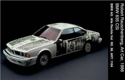 BMW 635 CSi Art Car # 6 (1986): Robert Rauschenberg