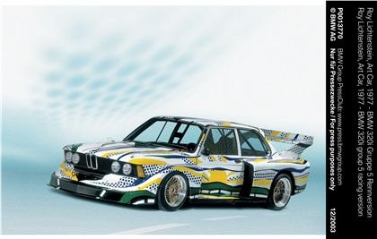 BMW 320i Group 5 Art Car # 3 (1977): Roy Lichtenstein