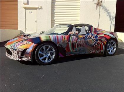 Tesla Roadster Art Car by Laurence Gartel (2010)