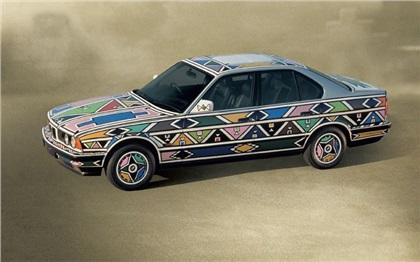 BMW 525i Art Car # 12 (1991): Esther Mahlangu