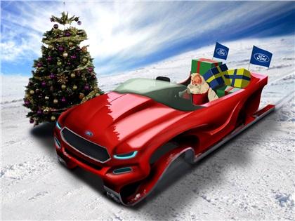 Ford Evos Concept Sleigh: Концепт саней для Санта Клауса