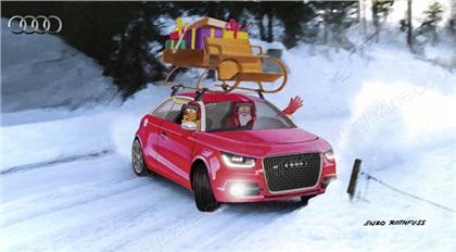 New sleigh for Santa: Новые сани для Санта-Клауса