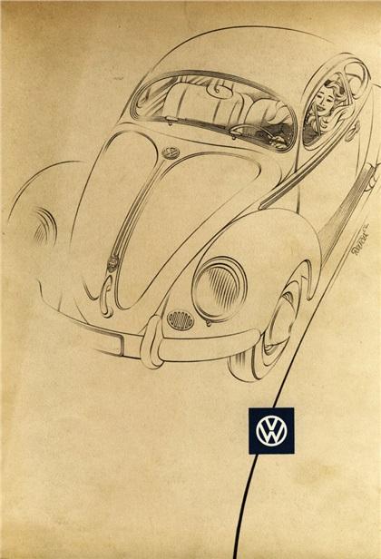 Volkswagen Advertising Art (1951–1960): Bernd Reuters