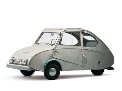 Fuldamobil Type N (1950-1955): Silver Flea
