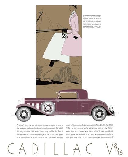 Cadillac/LaSalle Advertising (1931): Deco Art by Leon Benigni