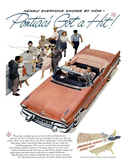 Pontiac Advertising (1957): America's Number 1 Road Car!