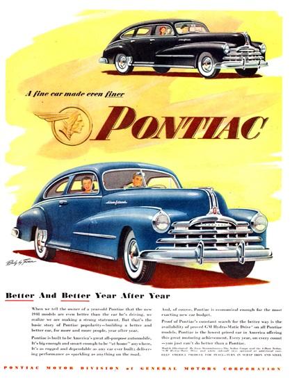 Pontiac Advertising Campaign (1948): A fine car made even finer