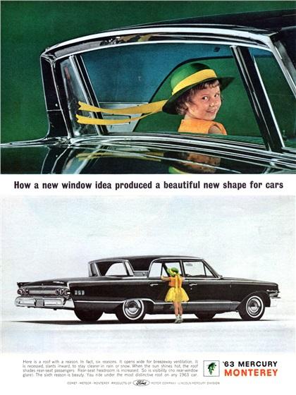 Mercury Monterey Advertising (1963): Mercury's Breezeway Design