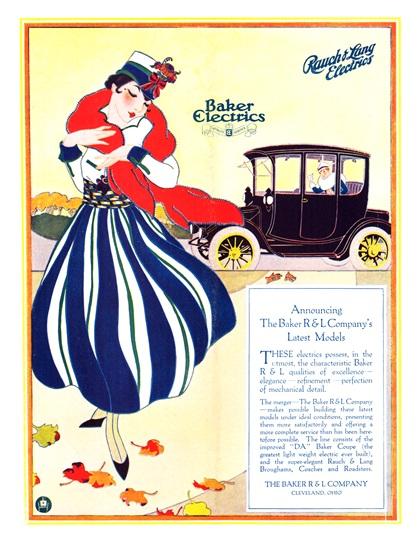 Baker/Rauch & Lang Electrics Advertising Art (1915–1916)