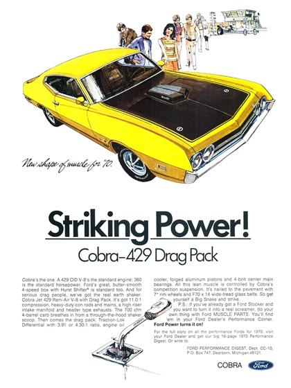Ford Performance Models Advertising Art (1970)