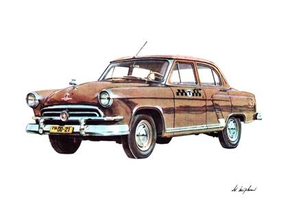 Отечественные автомобили: Рисунки Михаила Петровского