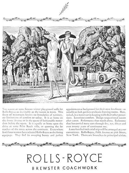 Rolls-Royce Advertising Art by Rockwell Kent (1926)