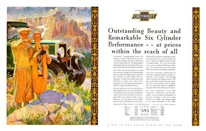 Chevrolet Advertising Art by Frederic Mizen (1929)