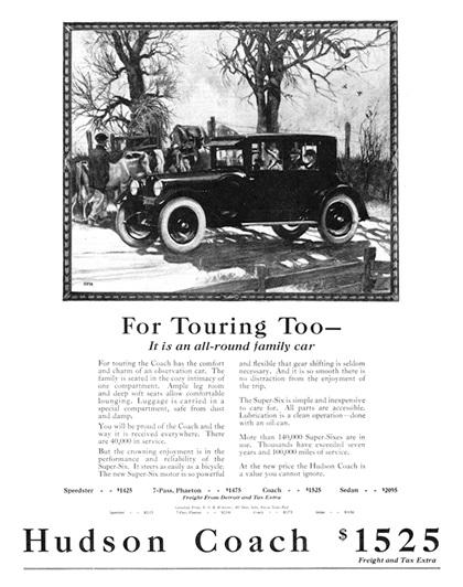 Hudson Advertising Art by Roy Frederic Heinrich (1922–1923)