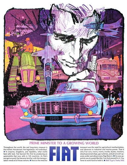 Fiat Advertisement by Bob Peak (1964)
