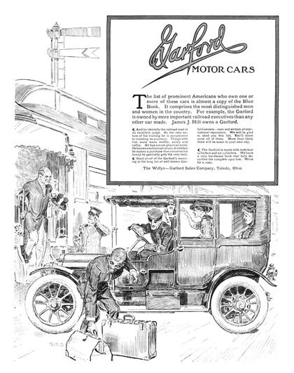 Garford Advertising Art by R. F. Schabelitz (1911–1912)