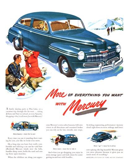 Mercury Advertising Art (1947–1948)