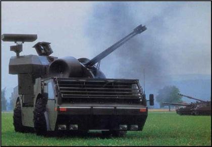 Oerlikon GDF-D03 35mm 'Escorter' (1985): Проект зенитной самоходной установки
