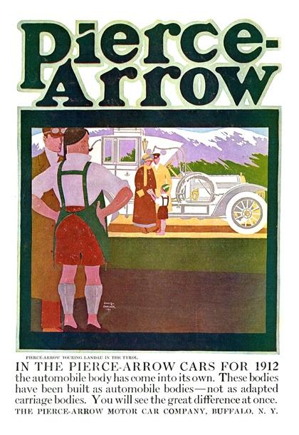 Pierce-Arrow Advertising Art by Louis Fancher (1911–1912)