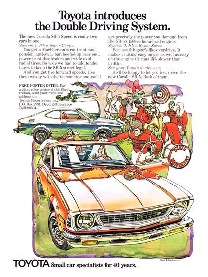 Toyota Advertising Art by Ken Dallison (1974)