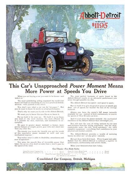 Abbott-Detroit Advertising Campaign (1916)