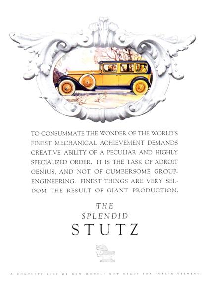 Stutz Advertising Campaign (1928)