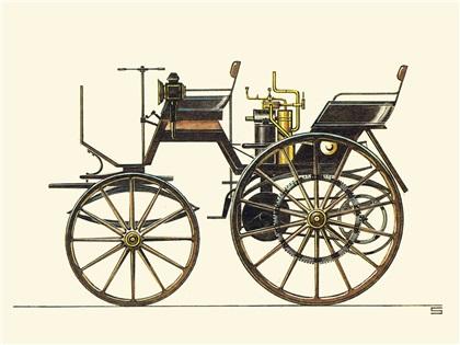 Historische Kraftfahrzeuge Nr.1 (1886–1914): Illustrations by Ralf Swoboda