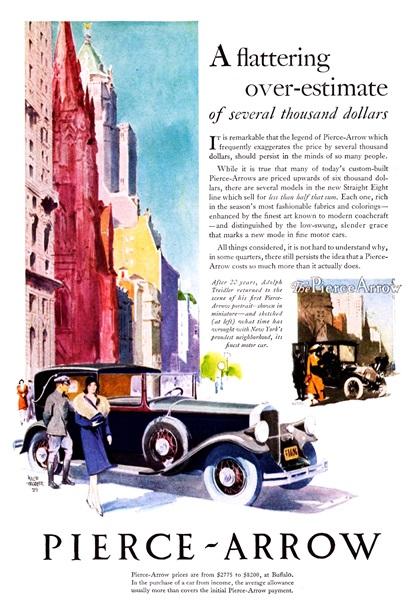 Pierce-Arrow Advertising Campaign (1929)
