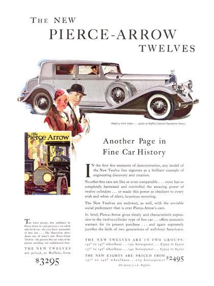 Pierce-Arrow Advertising Campaign (1932)