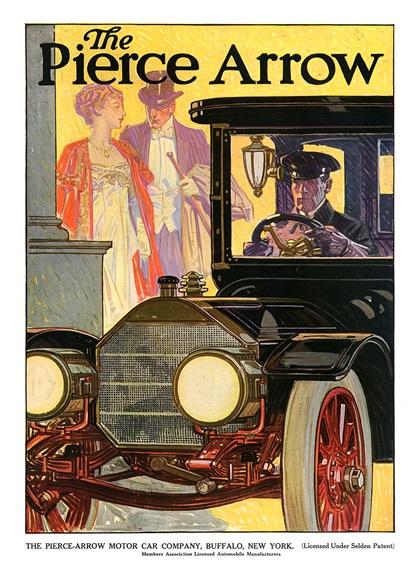 Pierce-Arrow Advertising Art (1909–1910)