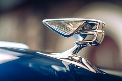 Bentley Hood Ornament: 'Flying B'