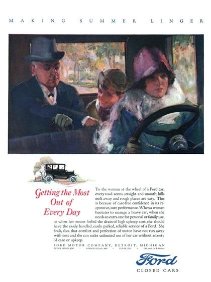Ford Model T Advertising Art (1924–1925)