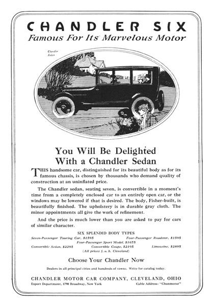 Chandler Advertising Art by Roy Frederic Heinrich (1918)