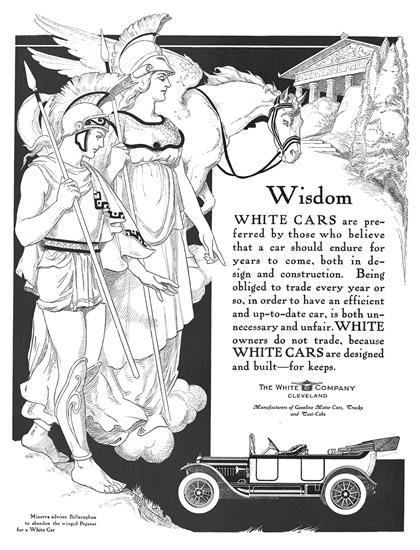 White Advertising Art by Otho Cushing (1913–1914)