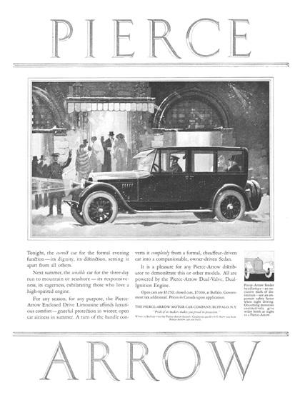 Pierce-Arrow Advertising Campaign (1923–24)