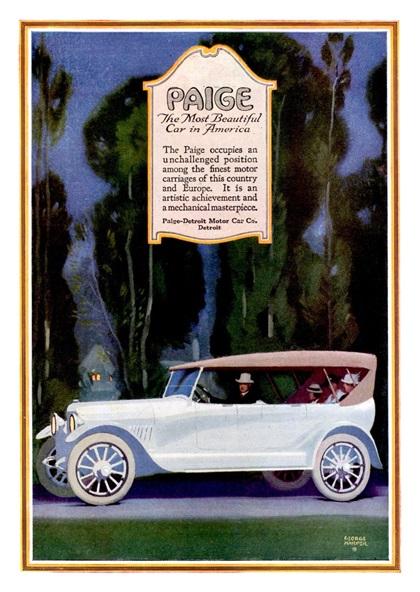 Paige Advertising Art by George Harper (1918)
