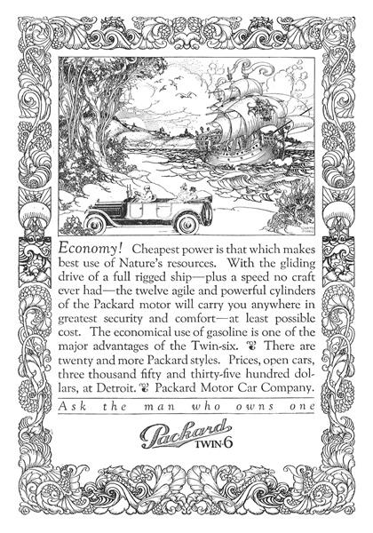 Packard Advertising Art by Alfred Garth Jones (1917)