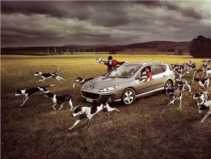 Peugeot 407 SW (2007): Coursing