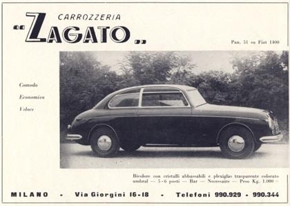 1948 Fiat 1400 Panoramica (Zagato)