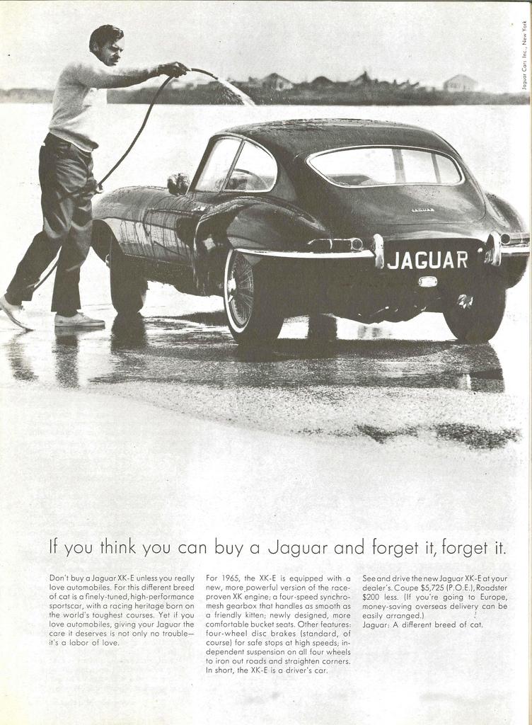 Jaguar XK-E anuncio de 1965